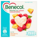 Benecol Cholesterol Lowering Yogurt Raspberry & Peach 4 x 120g