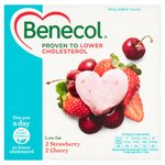 Benecol Cholesterol Lowering Yogurt Strawberry & Cherry 4 x 120g