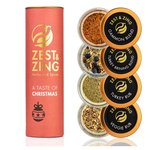 Zest & Zing Christmas Spice Gift Set Turkey Rub, Stuffing, Veggies & Gammon