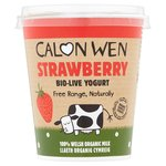 Calon Wen Organic Strawberry Organic Yogurt