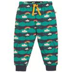 Frugi Organic Cosy Soft Kneepatch Crawlers in Rainbow Print