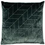 Hoxley Chevron Velvet Cushion, Pine