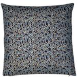 Cosmic Geometric Print Cushion, Navy & Gold Foil
