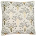 Art Deco 100% Cotton Cushion, Gold