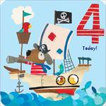 4th Pirate Birthday Card