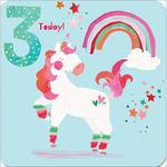 3rd Unicorn Birthday Card