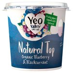 YVO Natural Top Bluberry & Blackcurrant Yogurt