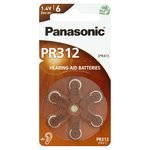 Panasonic PR-312 Zinc Air Hearing Aid Batteries
