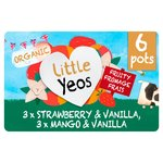 Yeo Valley Little Yeos Organic Strawberry, Vanilla & Mango Fromage Frais