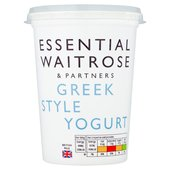 Essential Waitrose Greek Style Natural Yogurt