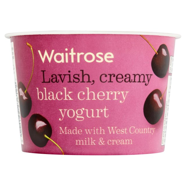 Waitrose West Country Black Cherry Yogurt