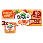 Arla Explorers Peach Bubble Yogurt