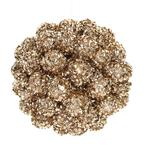 Gisela Graham Gold Beaded & Glitter Ball Tree Decoration