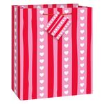 Stripes and Hearts Medium Gift Bag