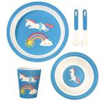Rex London Unicorn Tableware, 5 pc