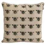 Honey Bee Recycled Cotton Cushion, Olive Green