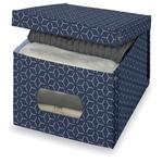 Geometric Large Storage Box, Blue