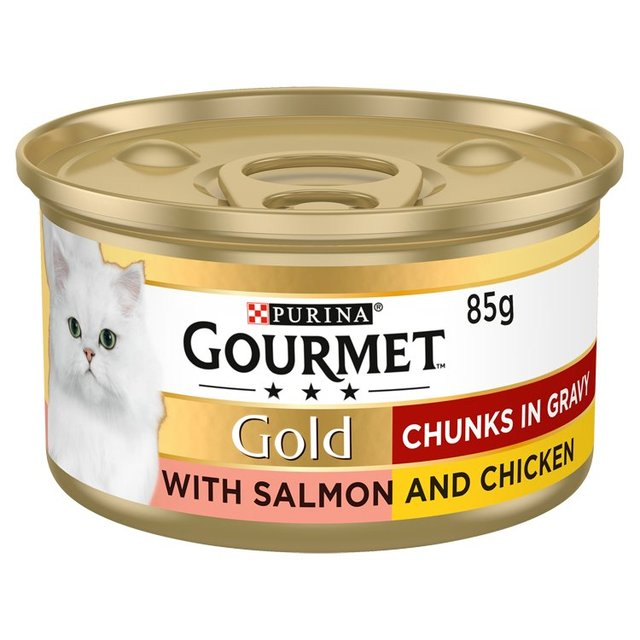 Gourmet Gold Cat Food Salmon & Chicken in Gravy