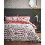 Content by Terence Conran 100% Cotton Leaf Linear Diamond Double Duvet Set