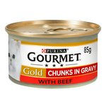 Gourmet Gold Beef Chunks in Gravy