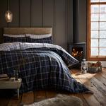 Catherine Lansfield Tartan Check Double Duvet Set, Navy