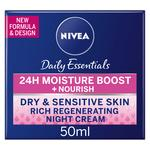 NIVEA Face Rich Regenerating Night Cream for Dry & Sensitive Skin