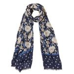 FatFace Autumn Blooms Scarf, Blue