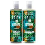 Faith in Nature Duo Shampoo & Conditioner, Coconut