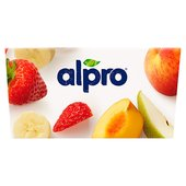 Alpro Strawberry Banana & Peach Pear Yoghurt Alternative