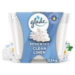 Glade Large Candle Clean Linen Air Freshener