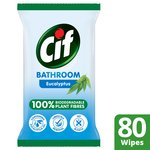 Cif Biodegradable Bathroom Eucalyptus Wipes