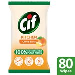 Cif Biodegradable Kitchen Citrus Burst Wipes