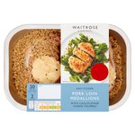 Waitrose Easy to Cook Pork Medallions with Cauliflower Cheese