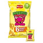 Mega Monster Munch Roast Beef Snacks 22g x