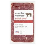 Essential Waitrose British Beef Lean Mince (typically 5% Fat)