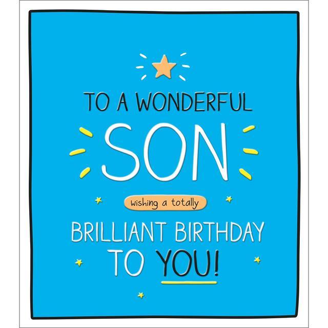 Awe Inspiring Happy Jackson Wonderful Son Birthday Card Ocado Funny Birthday Cards Online Alyptdamsfinfo