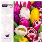 Paper And Design Tulips In Colour, 33cm, 3ply Napkin, Pack Of 20