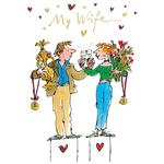 Quentin Blake Wife Card