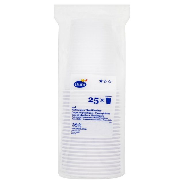 Plastic Cups 200ml, White