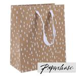 Paperchase White Trees Kraft Gift Bag Medium