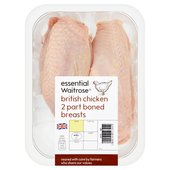 Essential Waitrose 2 Part Boned Chicken Breasts