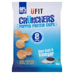 UFIT Crunchers High Protein Popped Chips, Sea Salt & Vinegar