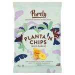 Purely Plantain Chips Wild Garlic