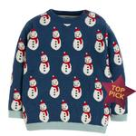 Frugi Organic Knitted Jumper with Snowman Design