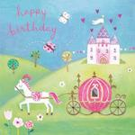 Cinderella Carriage Birthday Card