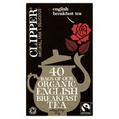 Clipper Fairtrade Organic Speciality English Breakfast Tea Bags