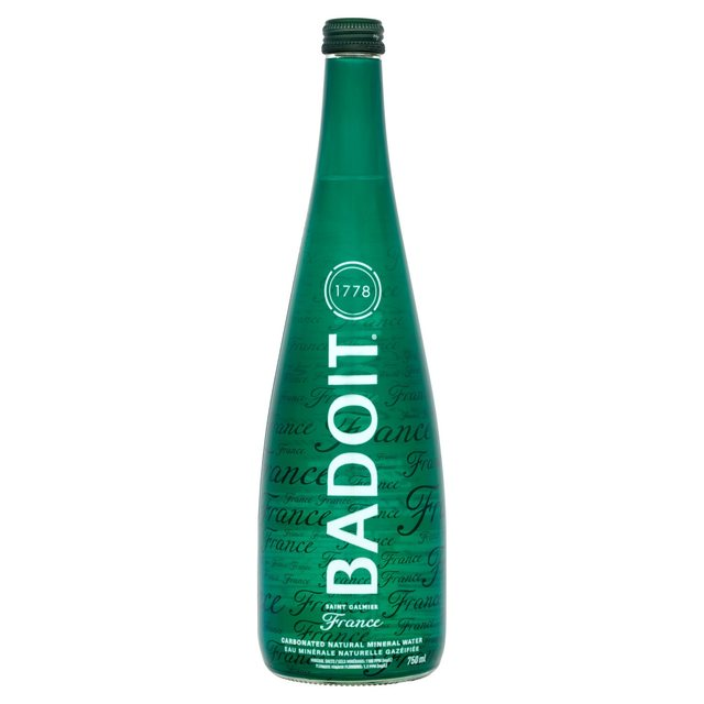 Badoit Naturally Sparkling Natural Mineral Water Glass Bottle