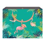 Sara Miller Green Flamingo Gift Bag, Shopper