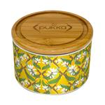 PUKKA Turmeric Gold Ceramic Tea Caddy