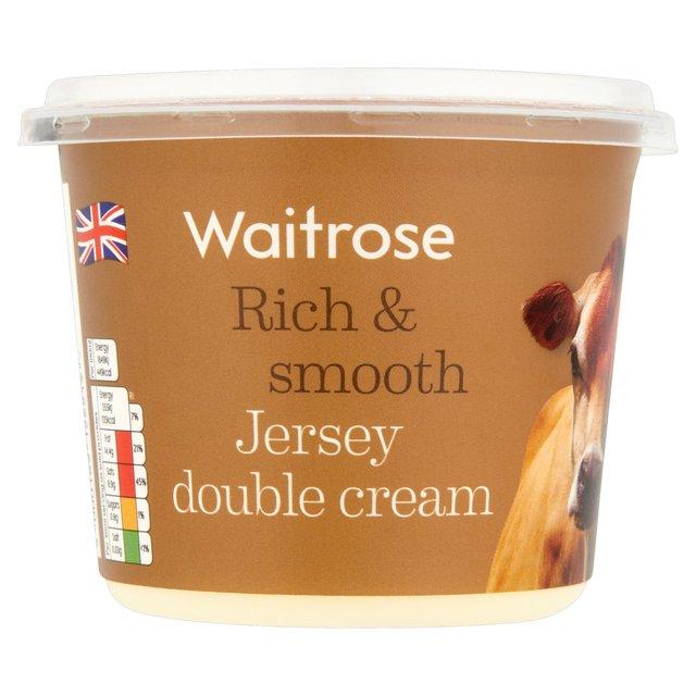 Waitrose Jersey Double Pouring Cream 300ml from Ocado